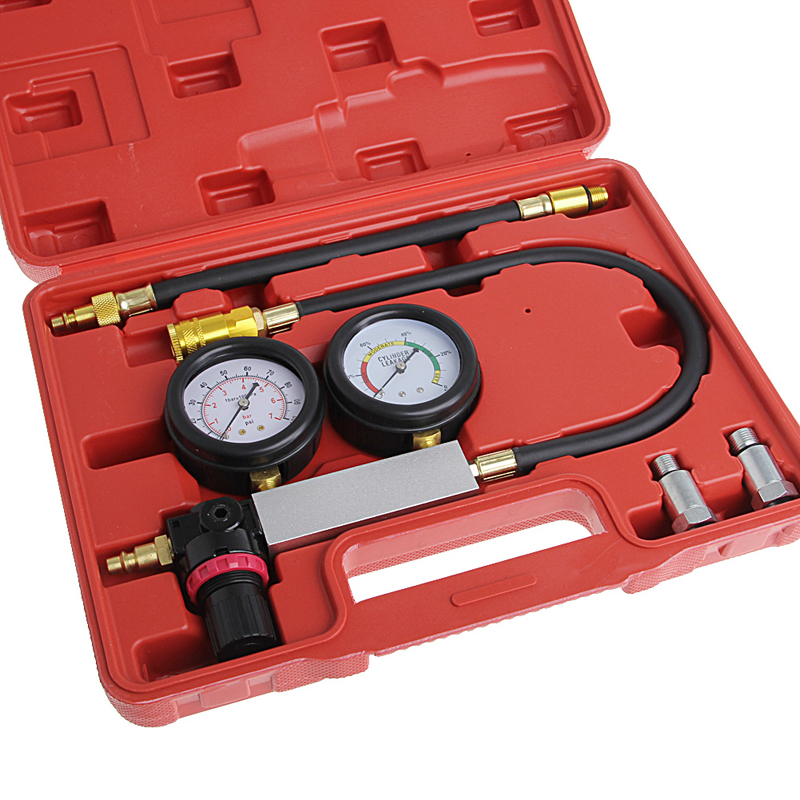 Free delivery New Hot 1 Set Auto Cylinder Engine Leak Leakdown Tester Compression Gauge Diagnostic Detector