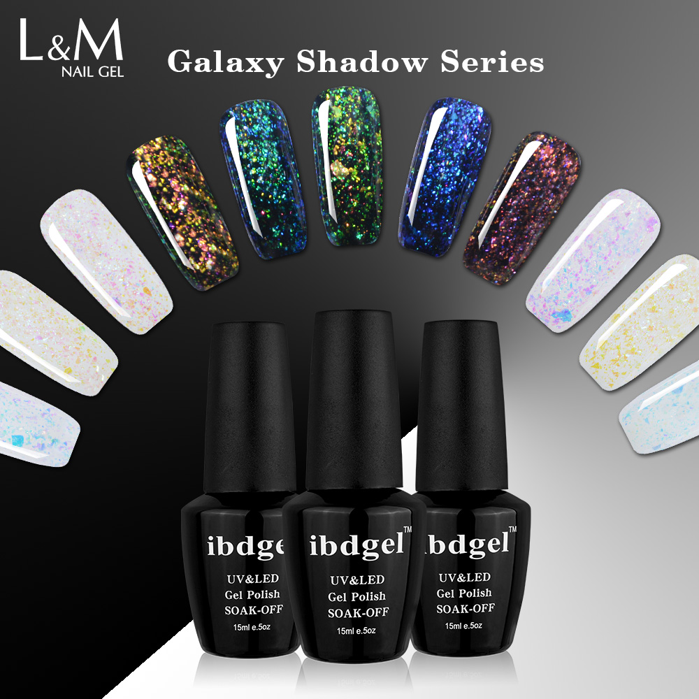 Gelaxy Gel Nail Polish: 3 Bottles Set 2017 New Arrival Galaxy Shadow Series Gel