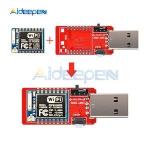 Image 1 - CH340 USB إلى ESP8266 ESP8266 ESP 07 لوحة تطوير WIFI صغيرة متحكم لاسلكي مبرمج مهايئ وحدة Wifi
