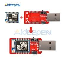 CH340 USB a ESP8266 ESP8266 ESP 07 MINI WIFI Senza Fili Scheda di Sviluppo Microcontrollore Programmatore Modulo Wifi Adattatore