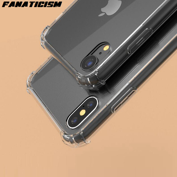 500pcs High Quality Drop Resistance Clear Hybrid TPU Bumper Hard PC Phone Cases For iPhone 11 Pro X Xs Max XR SE 5s 6 7 8 plus