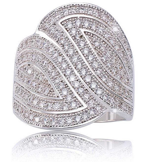 Victoria Size5-10 Deluxe Jewelry 10kt white gold filled Simulated stones CZ Gem Pave Wedding Engagement Ring for men women GiftVictoria Size5-10 Deluxe Jewelry 10kt white gold filled Simulated stones CZ Gem Pave Wedding Engagement Ring for men women Gift
