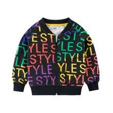 2019 spring autumn children long Sleeve  jacket cotton letter pattern boy coat casual Outerwear kids clothing child zipper coats