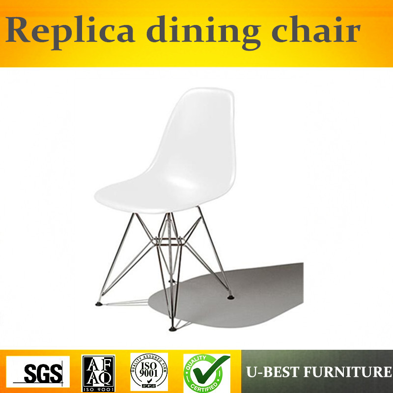 Free shipping U-best white contemporary dining chairs side chairs, Design Plastic Seat tulip side chair цена