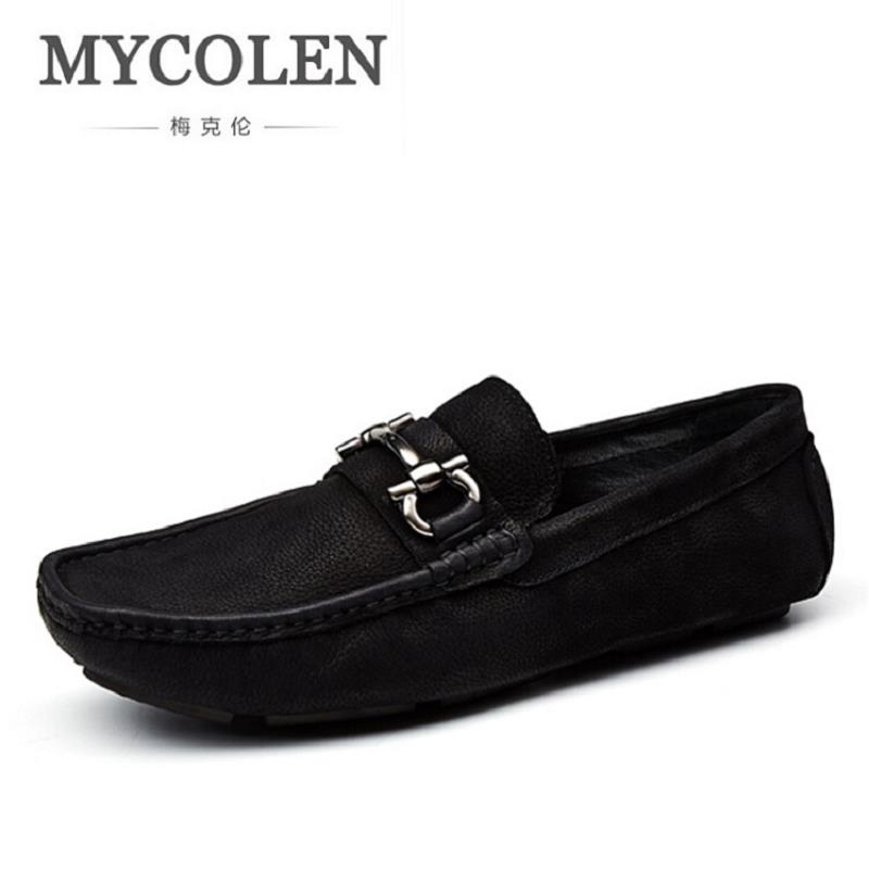 MYCOLEN Luxury Brand Men Loafers Genuine Leather Men Driving Shoes Good Quality Soft Comfortable Doug Shoes schoenen mannen s c cotton brand backpack men good quality genuine leather