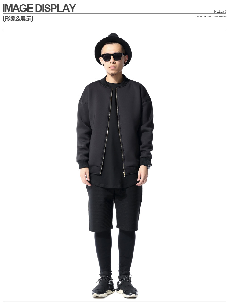 streetwear mens clothing fashion cool jackets for men clothes outfit S XXL  slim fit space cotton plain black MA1 bomber jacket,in Jackets from Men\u0027s