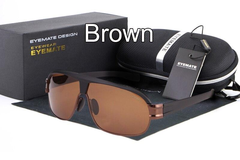 8771e43df6a HDCRAFTER Sunglasses Men Polarized Rectangle Sun Glasses for Men Silver  Brown Color Brand Designer Gafas Oculos De Sol UV400-in Sunglasses from  Apparel ...