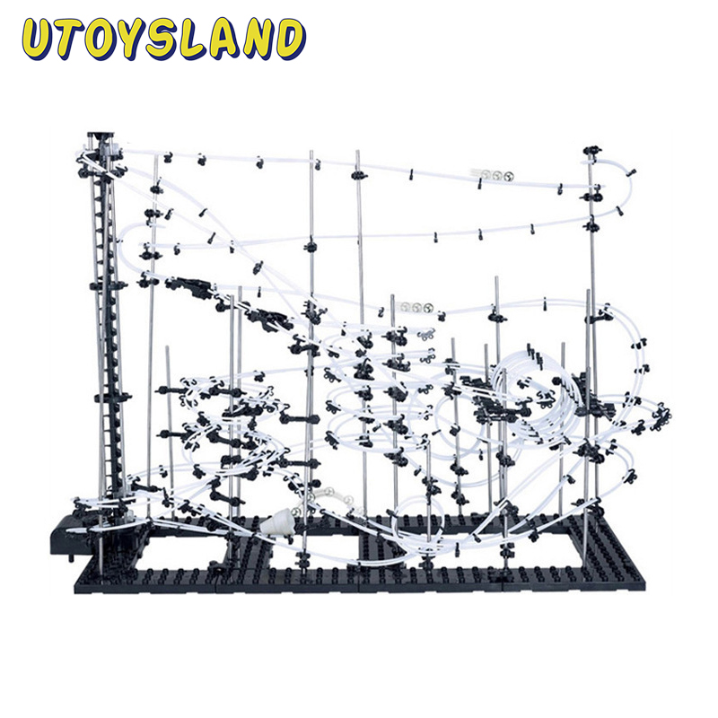UTOYSLAND DIY Educatief Speelgoed Space Rail Level 5 6 7 8 9 Staal Marmeren Achtbaan Spacerail Model Building Kit speelgoed Gift