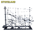 UTOYSLAND DIY Educational Toys Space Rail Level 5 6 7 8 9 Steel Marble Roller Coaster Spacerail Model Building Kit Toys Gift
