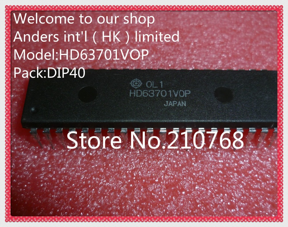 100 new original HD63701VOP HD63701V0P HD63701 DIP40 Not programming