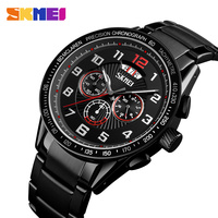 Quartz Watch Men Watch Large Dial Calendar Timing Personality Top Luxury Stainless Steel Watches Waterproof Relogio Masculino