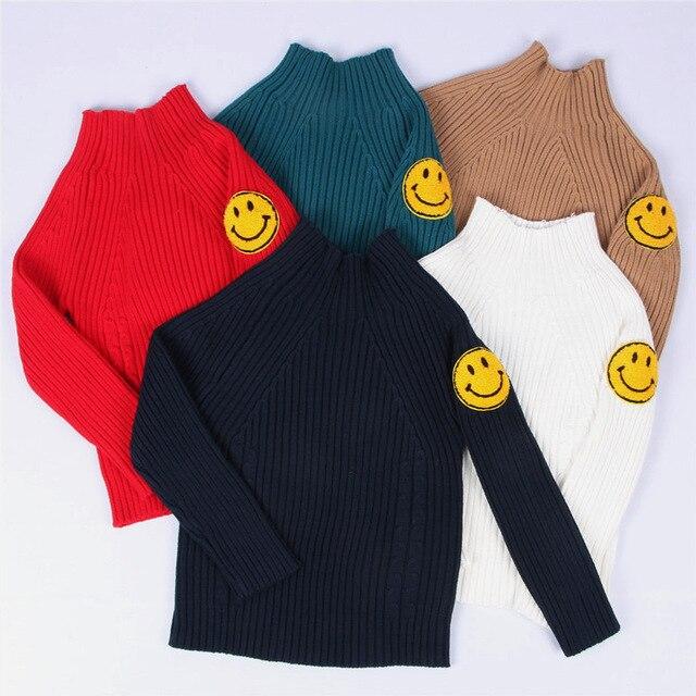 916b6921ec86 2017 baby boys girls sweater cartoon smiling face winter warm long ...