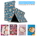 Fashion Painted Flip PU Leather sFor Samsung Galaxy Tab S 10.5 Case For Samsung Galaxy Tab S T800 T805 Smart Case Cover + Gift