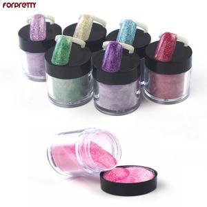 Блестящий акриловый порошок для ногтей, цветной Нагель для ногтей