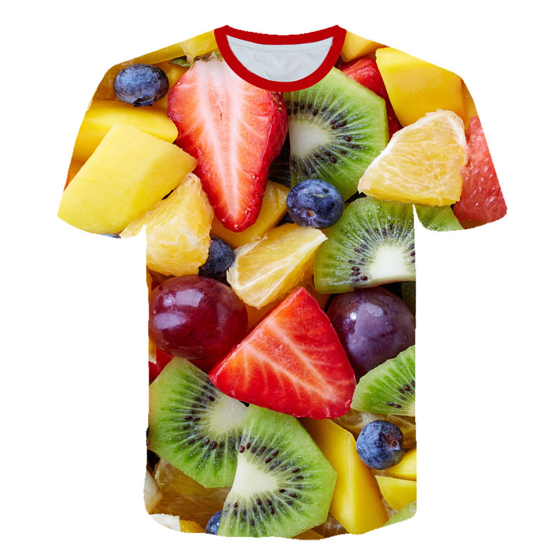 Novelty Fruits Food 3D T Shirt Men Cans Of Beer Printed Hip Hop Crewneck Short Sleeve Men/Women T-shirt Tee Tops Wholesale