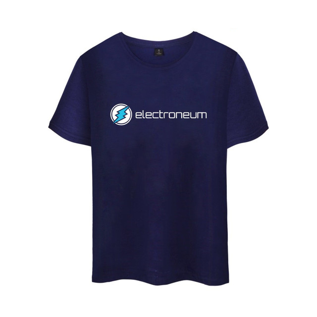 Electroneum Logo Print T-shirt Electroneum cryptocurrencies Cotton tee shirt Short Sleeve Sleeve Blockchain  Bitcoin clothes 2