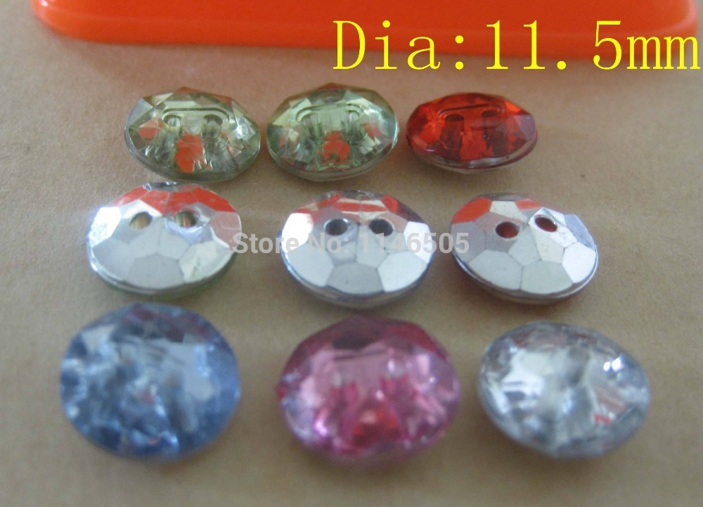 200pcs/lot 11.5mm new Rainbow colors silverback crystal button shirt button garment accessory/scrapbooking/sewing
