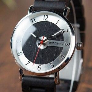 Image 4 - Bobo pássaro relógios de madeira dos homens relógios moda pulseira de madeira relógio de quartzo presentes ideais artigos com * q23 transporte da gota