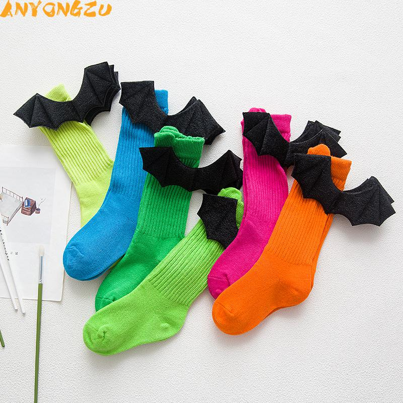 6pair/lot Baby Hosiery Autumn Winter Creative Hand-cuddly 3d Devil's Wing Pile Socks