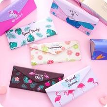 Portable folding glasses case Unicorn Flamingo Simple fresh sunglasses  box Student