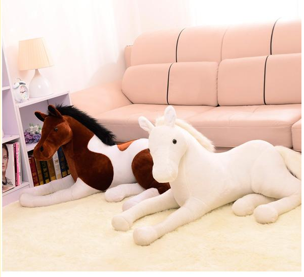 big lovely plush simulation horse toy white horse doll gift toy about 120cm 0436