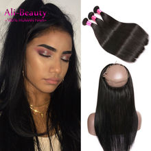 360 Lace Frontal Closure With Bundles Straight 360 Frontal Band With Bundles Of Hair Human Hair With Frontal Closure Ali Beauty
