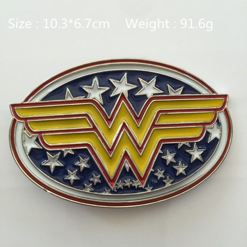 ed5e91529b7a Fiim Wonder woman superhero boucle de ceinture 103   67 mm 91.6 g métal  convient 4 cm   1.57in large ceinture mode hommes femmes Jeans accessoires
