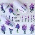 1 шт. 2021 Лавандовый букет водные наклейки украшения для ногтей фиолетовый Цветущий цветок слайды красота наклейки для ногтей