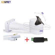 GZGMET DC 12V White RS485 CCTV Camera Rotating Bracket Automatic IP Camera NVR Pan Tilt  Camera Bracket