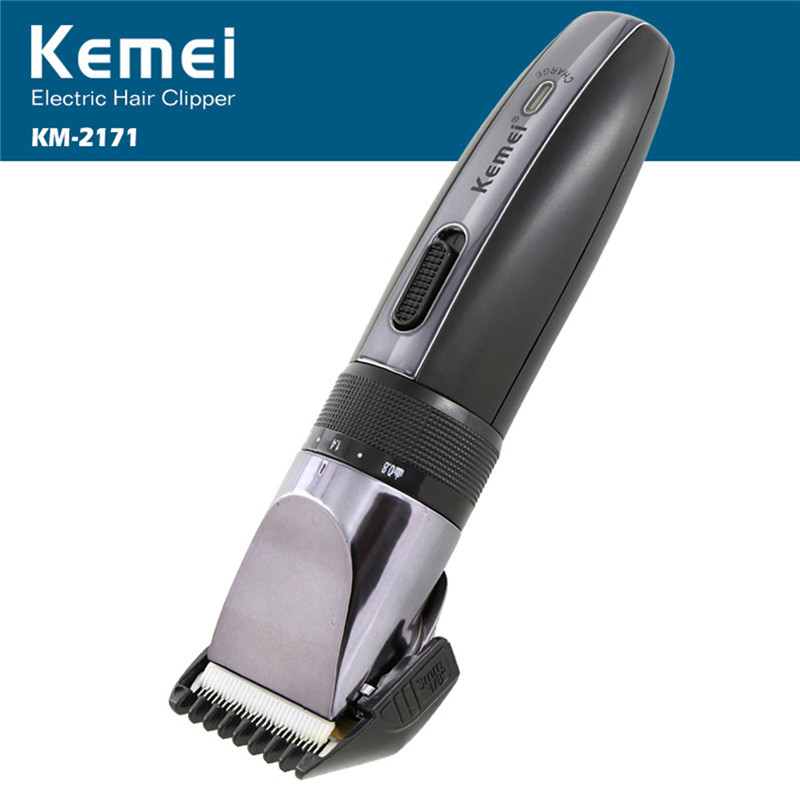 Kemei Professional Hair Clipper Trimmer Rechargeable Electric Shaver Razor Cordless Adjustable Clippe hair machine KM-2171 kemei km 173 led adjustable temperature ceramic electric tube hair curler