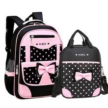 Набор школьных сумок DIOMO для девочек 6 12 лет, Модный милый школьный рюкзак в горошек с бантом для начальной школы, лучший подарок для девочки