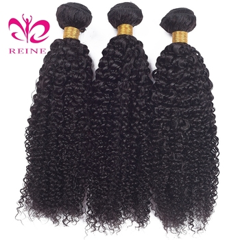 Afro Kinky Curly Hair Brazilian Hair Weave Bundles Reine Brazilian Kinky Curly Human Hair Bundles Deal Non Remy Hair Extension