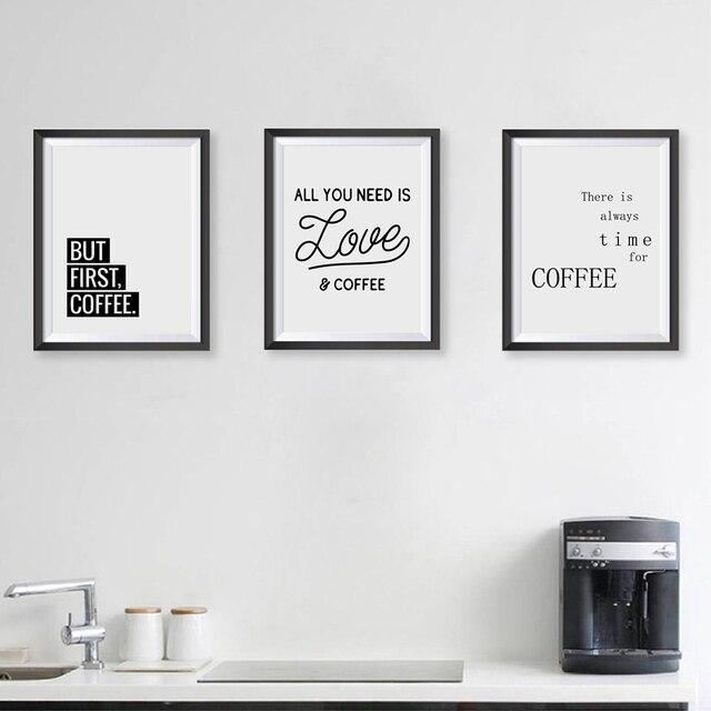 Caffè Citazione Stampe di Arte Della Parete Della Cucina Complementi ...