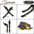 Logo MT09 For Yamaha Mt 09 MT-09 2014-2015 Motorcycle Accessories Adjustable Folding Extendable Brake Clutch Levers Black