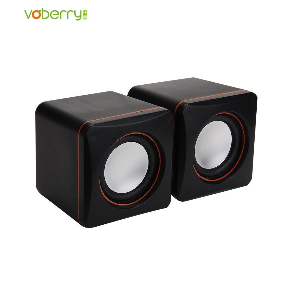 VOBERRY Mini Portable USB Multimedia Computer Laptop Audio Sounder Speaker Multimedia Desktop PC Speakers mx 606 2 1 channel usb computer subwoofer w multimedia speakers black