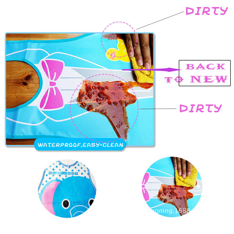 Baby Roll Slabbetjes Verstelbare Waterdicht Burp Peuter Baby Cartoon Dieren Wasbare Schort Kids Feeding Eten Kiel Speeksel Handdoek