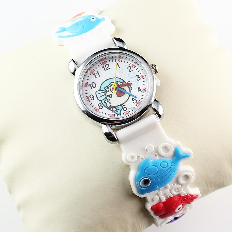New Fashion 3D Kids Watch 3D Silicon Lovely Children's Rubber Boy Girl Sports Quartz Wrist Watch (50 Pieces)