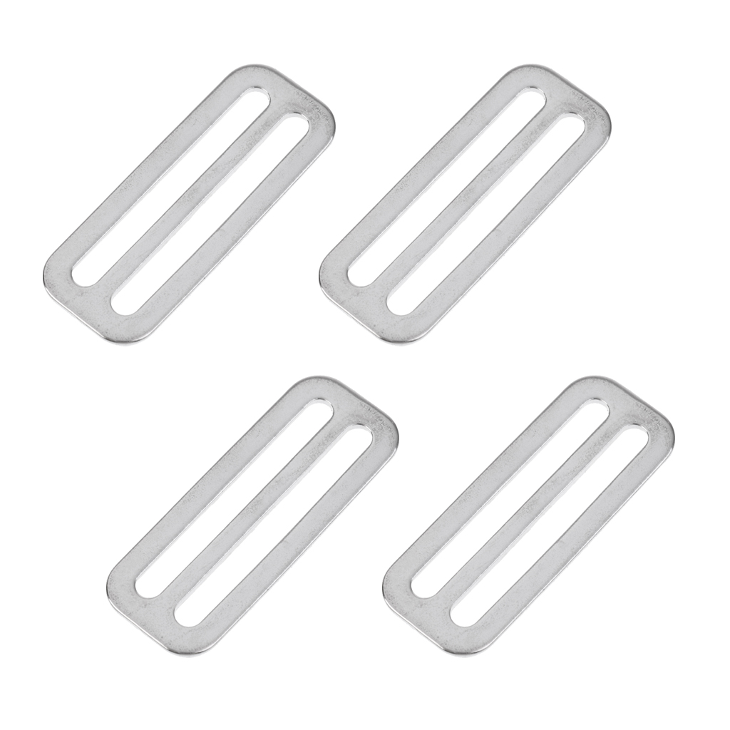 4Pcs Dive Weight Belt Slide Stainless Steel Stopper Keeper Buckle For Swimming Underwater Scuba Diving Snorkeling Accessories