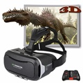 Pro versão realidade virtual óculos 3d shinecon vr 2.0 cabeça montar google papelão filme jogo para 4.7-6 de polegada de telefone + remoto