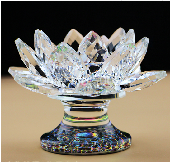 Aliexpress buy free shipping exquisite lotus flower shaped free shipping exquisite lotus flower shaped crystal candle holder for wedding decoration mightylinksfo