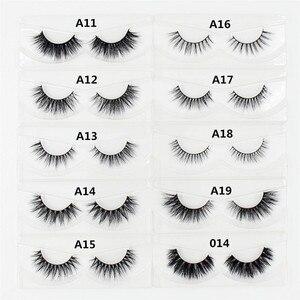 Image 3 - LEHUAMAO 100pairs 3D Mink Eyelashes Mink False Eyelashes Handmade Mink Hair Collection 3D Lashes 34 Style Glitter Packaging