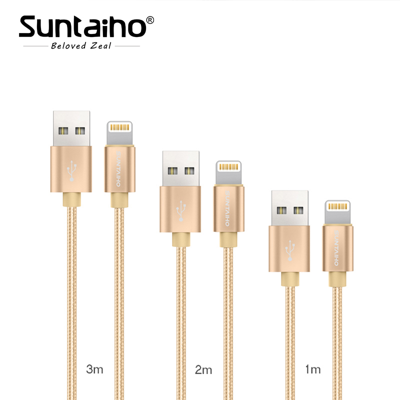 USB Cable For iPhone X USB Cable [3-Pack]1M/2M/3M ,Suntaiho Nylon USB Cable 5V 2.1 Fast Charging cable for iPhone 8 7 6 5 S Plus