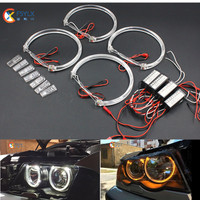 CCFL Halo Ring Headlight For Motocycle 72mm 76mm 80mm 85m 90mm 115mm 127mm 130mm 145mm CCFL