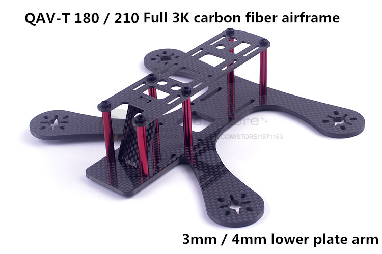 DIY FPV mini drone QAV-T 180 210 pure carbon fiber racing quadcopter frame unassembled f04305 sim900 gprs gsm development board kit quad band module for diy rc quadcopter drone fpv