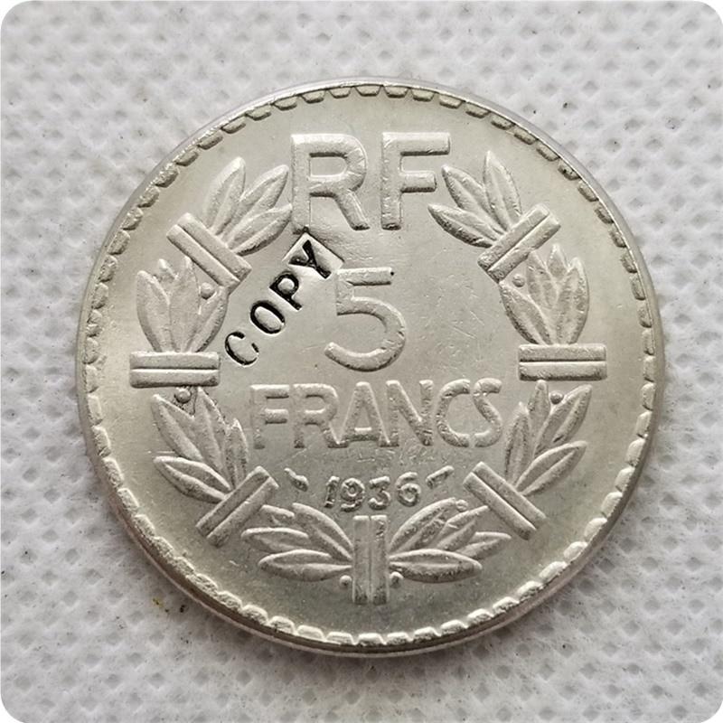 1936,1937, 1939 frankreich 5 Francs nickel Coin COPY gedenkmünzen-replik münzen medaille münzen sammlerstücke