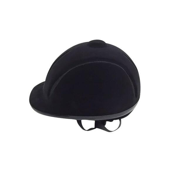 Черный стекаются классический конный шлем верховая езда шлем