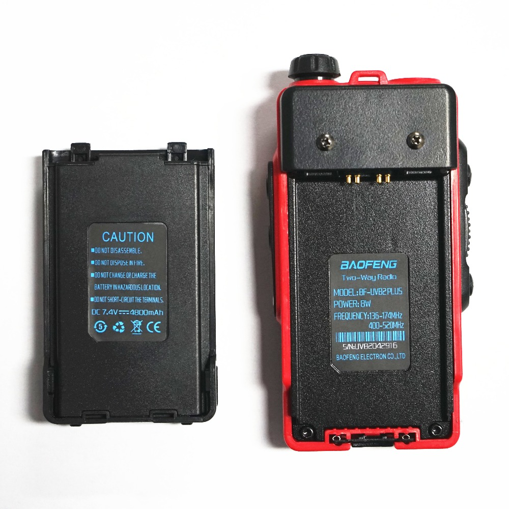 Image 5 - BaoFeng UV B2 Plus 8W High Power FM Transceiver 4800mah Battery BF UVB2 Plus for CB Radio Mobile Radio UVB2 Walkie Talkie Uv b2-in Walkie Talkie from Cellphones & Telecommunications