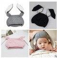 Ins 2016 otoño invierno del bebé sombreros niños 1-4 años sombrero para las niñas bufanda de punto sombreros CAPT OREJAS de CONEJO para el bebé kikikids BEBE
