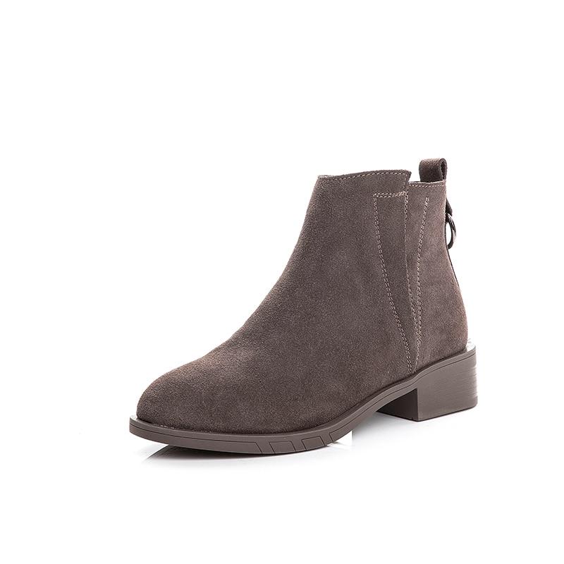 black Style Chaussures Bottes Noir Automne Brown Bas Cool À Pour Cheville Bottines Femmes Glissière Talons Fermeture 7zZwqIaxn