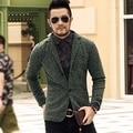 2016 Casual Men Knit suit Blazer business Slim Costume Homme Blazer Masculino Male Woolen Suits vintage Jacket coat one button